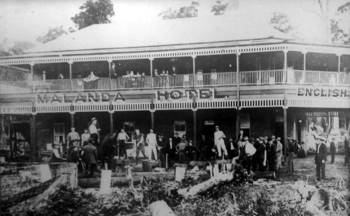 Malanda Hotel opening 1911