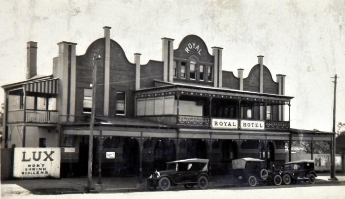 Royal Hotel Dungog NSW 1924 NBA ANU
