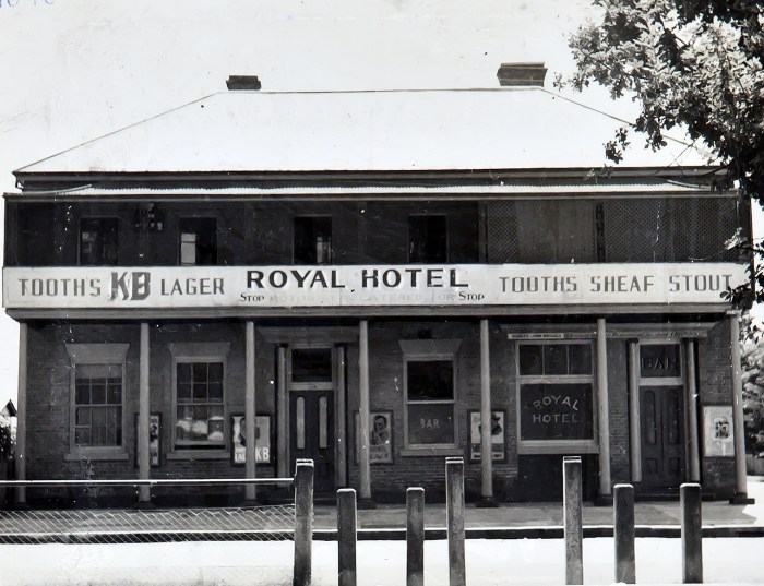 Royal Hotel Richmond NSW 1949 NBA ANU