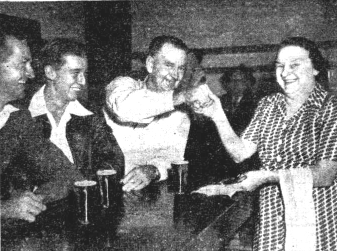 elsie barmaid ship inn Brisbane 1953
