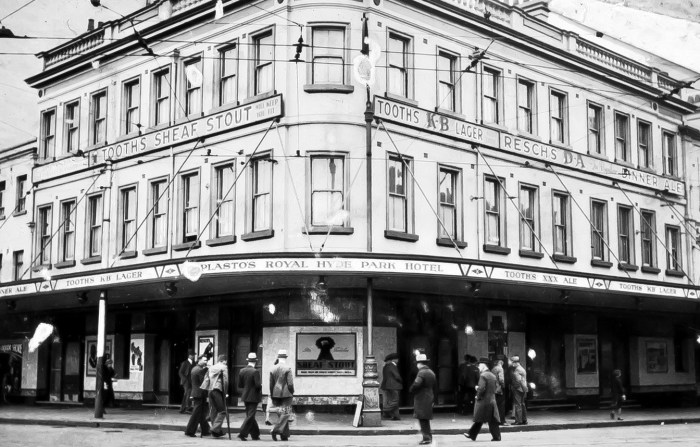 Hyde Park Hotel Sydney 1936 NBA ANU