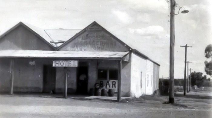 Attunga Hotel temporary bar Attunga NSW 1948 NBA ANU B