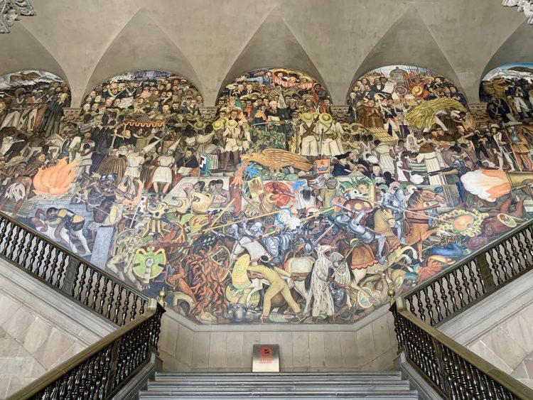 Diego Rivera´s mural at Palacio Nacional, Mexico City