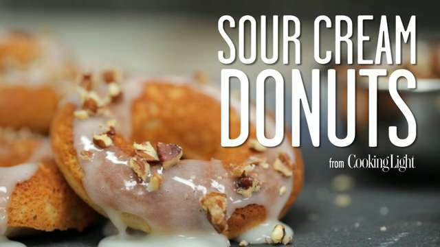 How to Make Low-Calorie Sour Cream Donuts - Cooking Light