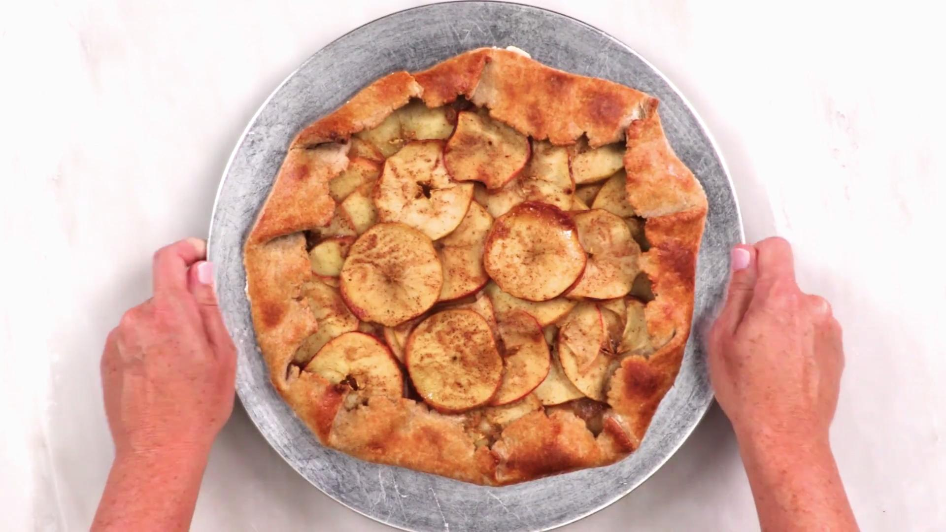 How to Make an Apple Galette with Vanilla Yogurt Drizzle  Cooking Light