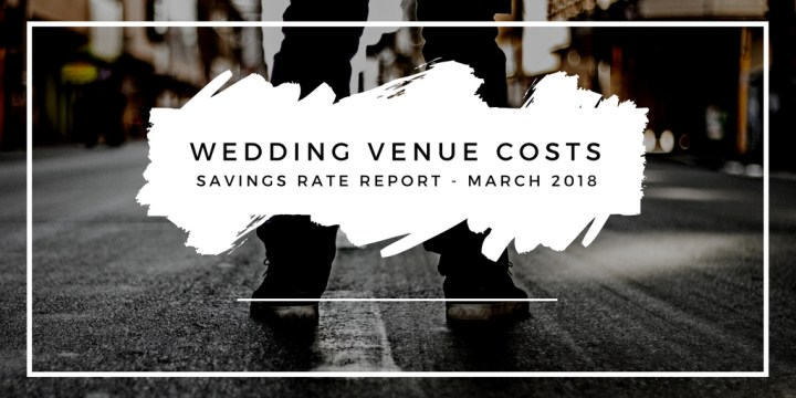Time in the Market savings rate report – March 2018 – wedding venue costs