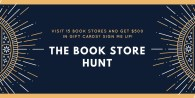 Visiting all of the book stores in Connecticut for $500 in gift cards!