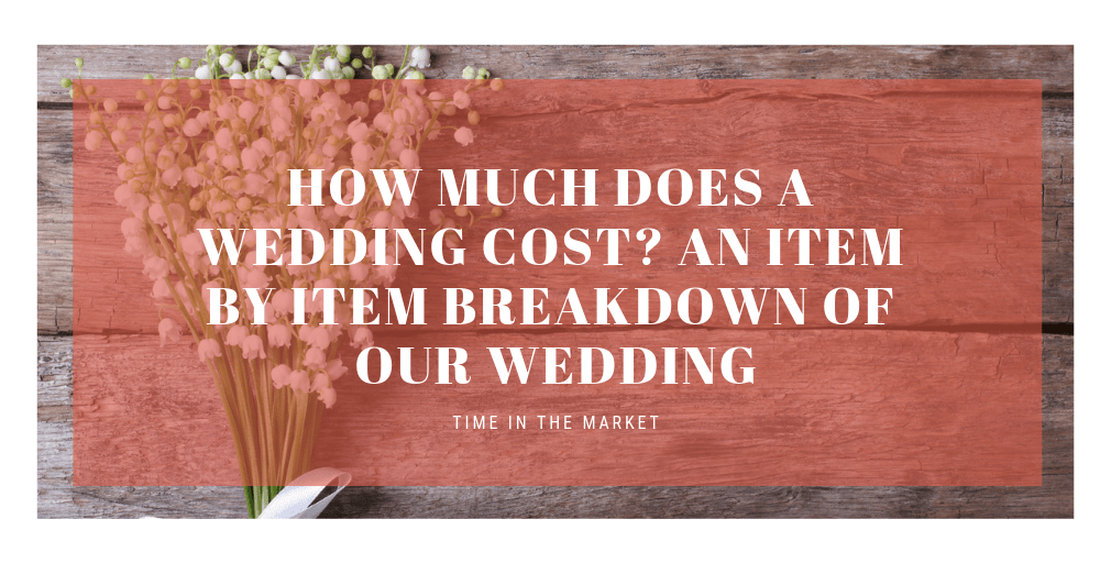 Heading for a post about wedding costs and expenses