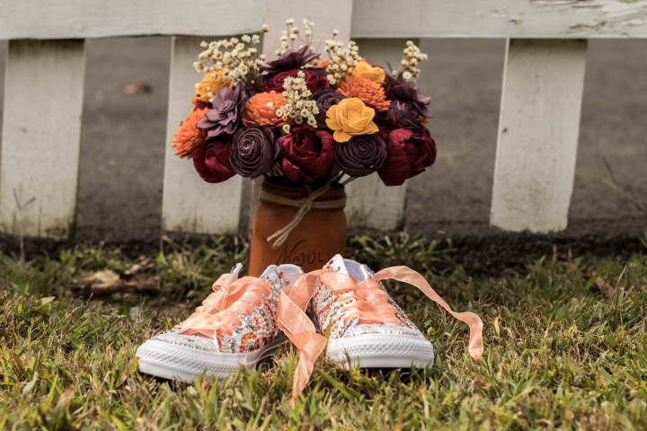 Bedazzled sneakers with real crystals