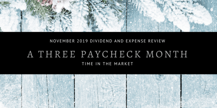Dividend and Expense Review – November 2019 – Three Paycheck Time