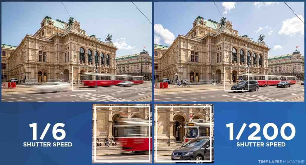 Control the amount of motion blur by changing the shutter speed in manual mode