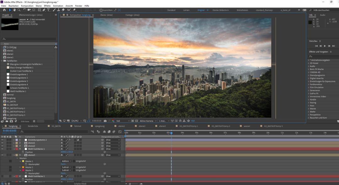 Screenshot of the Hong Kong time lapse photo