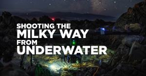 Shooting the milky way from underwater