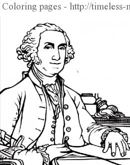 George Washington Coloring Page Timeless Miracle Com