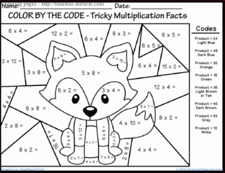 Free coloring pages of multiplication christmas