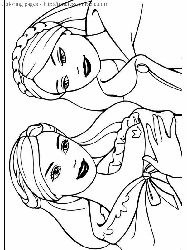 Barbie Princess Coloring Page Photo 7 Timeless Miracle Com