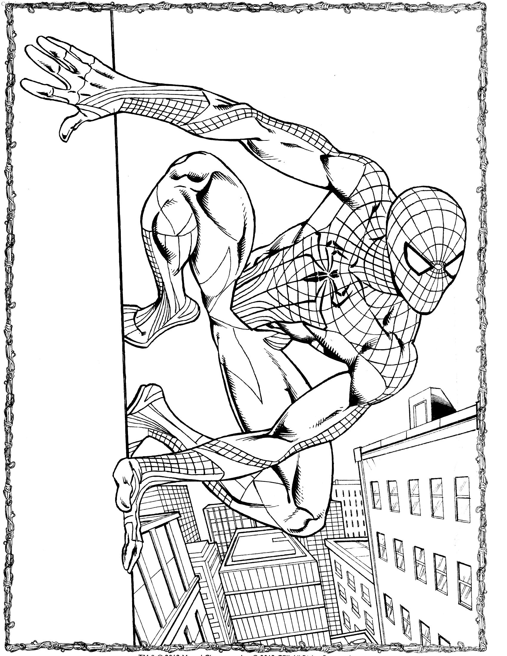 Spiderman 3 coloring pages