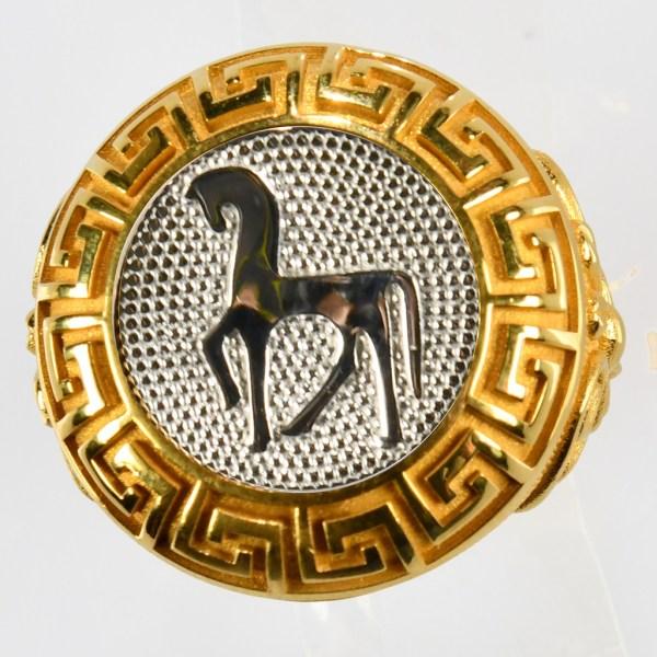anello giallo cavallo bianco