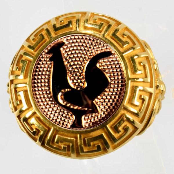 anello giallo gallo rosso