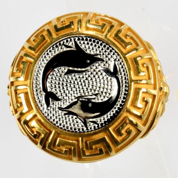 anello giallo pesci bianchi