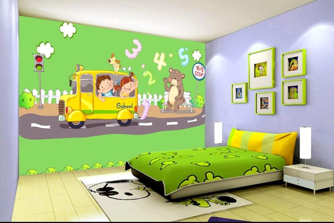 Custom 3d Photo Wallpaper Bedroom Mural Highway Bus Bear Digital Hd Painting Kids Room Background Non Timeless Magazines