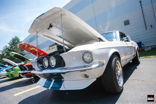 This early Mustang was done in Shelby livery...