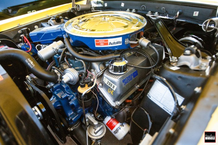 This is the BOSS 302 powerplant that sits under the hood of the yellow example in our lead photo - CLEAN!