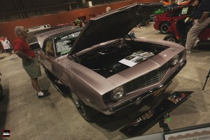 We couldn't get a moment alone with this car, no matter how hard we tried! Pretty much everyone at the show came to evaluate the one-off Evening Orchid '69 Z/28.