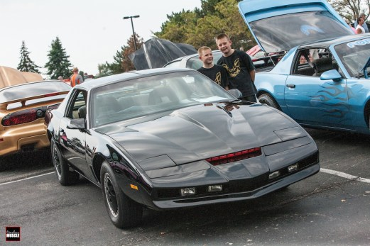 There was even a K.I.T.T. replica on display - capturing the attention of these two Millennials who would otherwise have no idea of the significance of this particular '82 Trans Am, if not for some enthusiastic parents.
