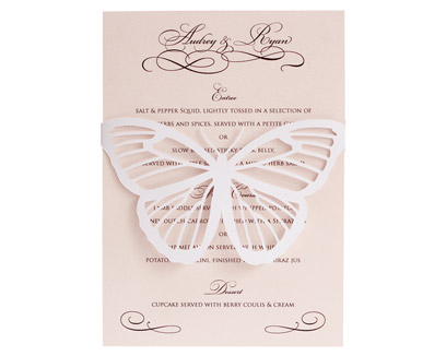 Butterfly Menu Cards