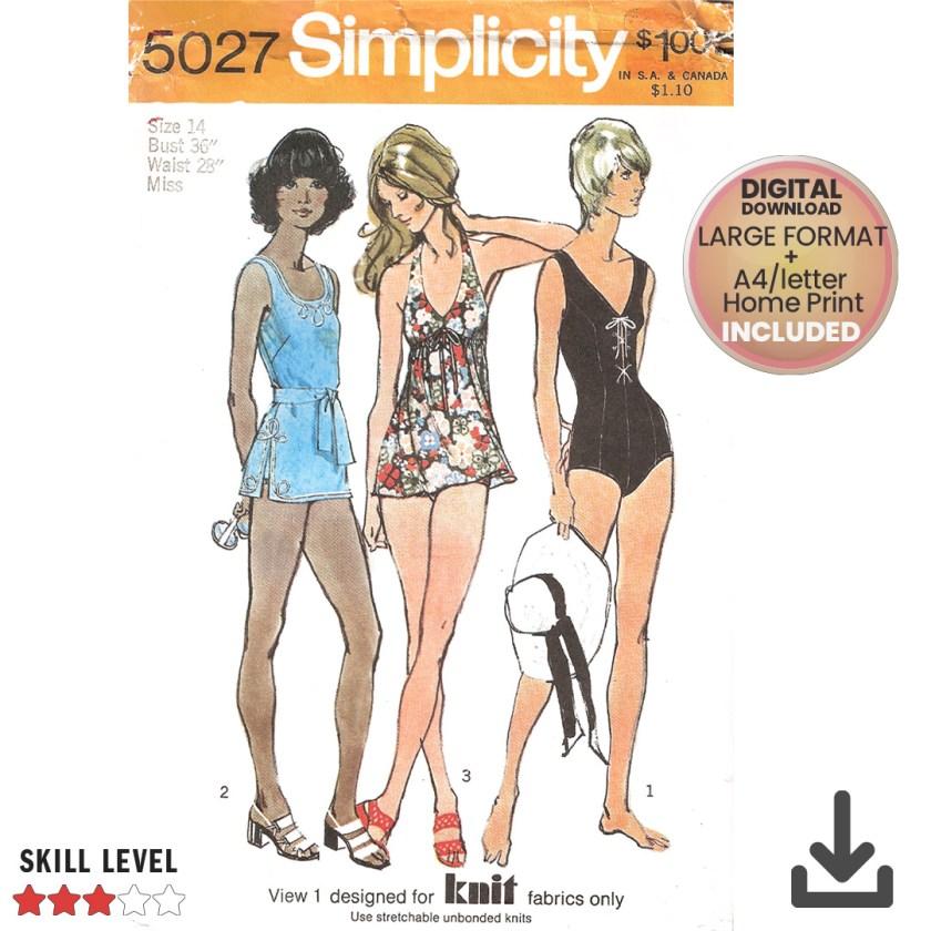 vintage simplicity 5027 beach wear