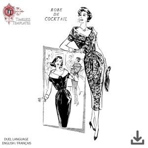 vintage robe de cocktail grande tailles