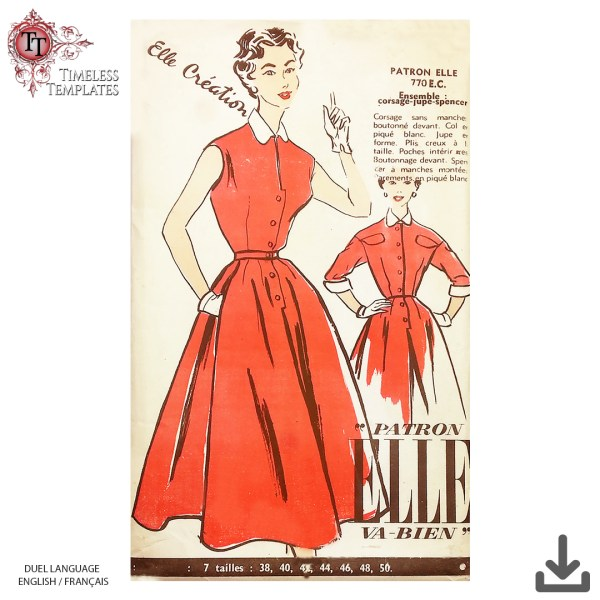 elle va bien patron couture vintage