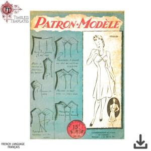 Patron_Modèle vintage couture 1940´s sewing