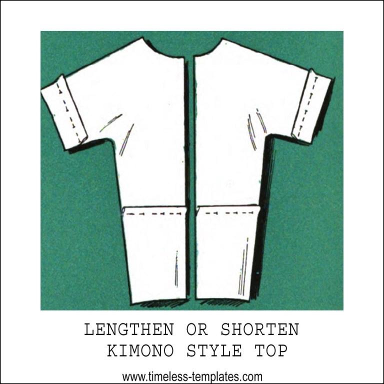 lengthen shorten kimono