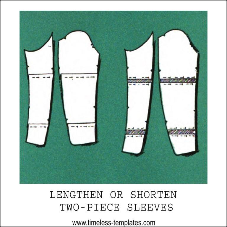 lengthen shorten two piece sleeve