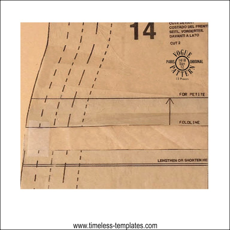 how to lengthen or shorten pattern