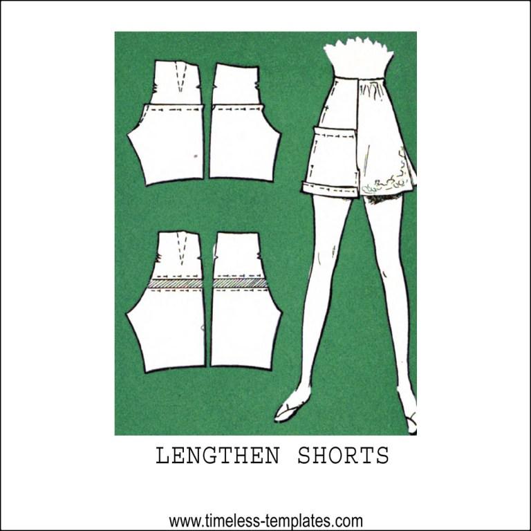 lengthen shorts pattern