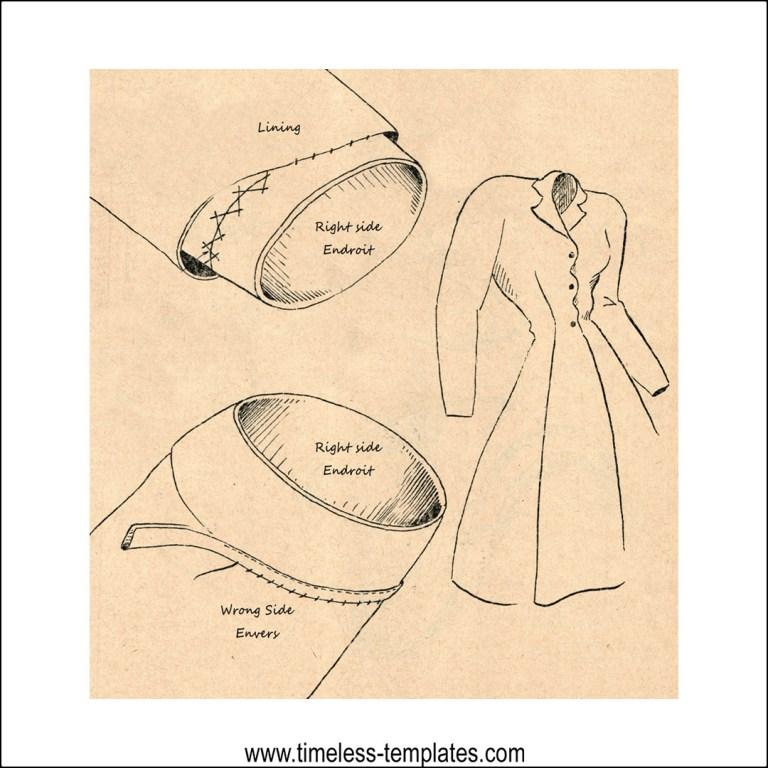 vintage hemming of sleeve