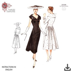 vintage vogue 1950s sewing pattern
