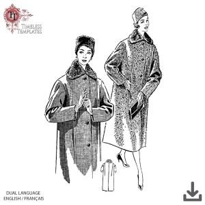 1950s coat retro sewing pattern