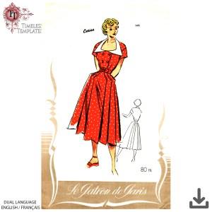 le patron de paris 572 vintage french sewing pattern