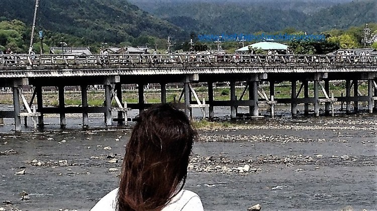 A moment to reflect and admire the beautiful mountains that surrounds this valley. Togetsukyo Bridge, Arashiyama, Kyoto