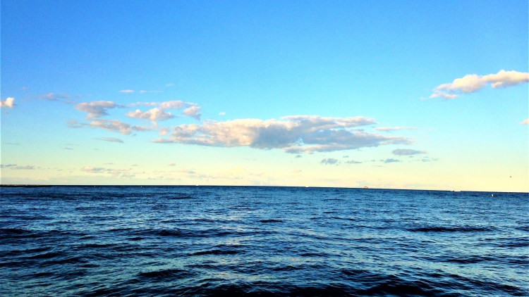 Lake Michigan in Chicago: Absolutely beautiful! Cannot see the other side! View from Oak Street Beach