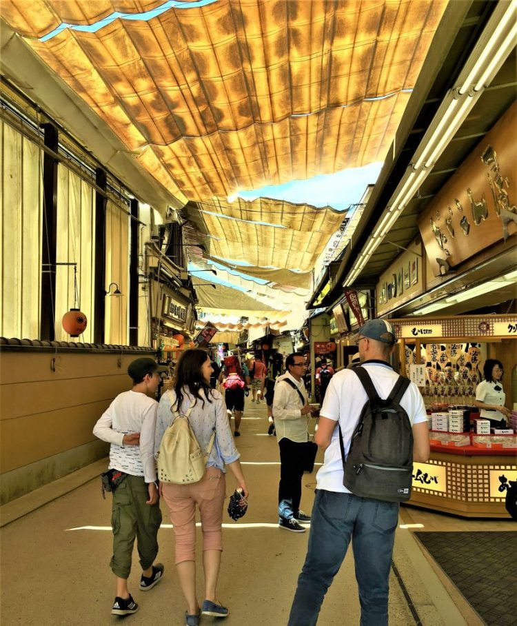 Covered walkways in the Omotesando, Miyajima Island
