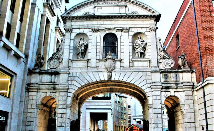 The Temple Bar, the archway to Paternoster Square from St Paul's Cathedral