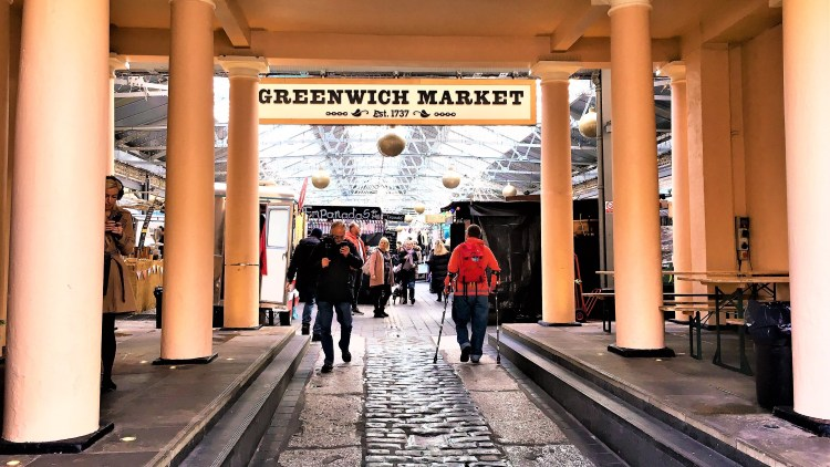 Greenwich Market in the morning.