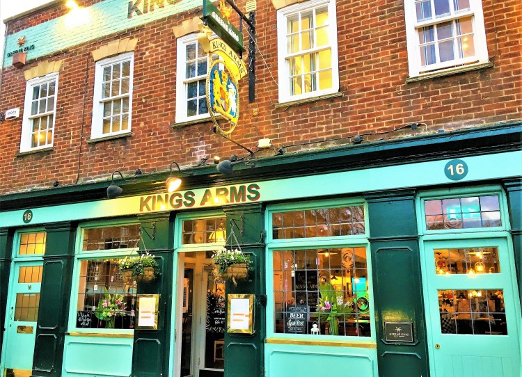 The Kings Arms at Greenwich Town for your pub-grub!