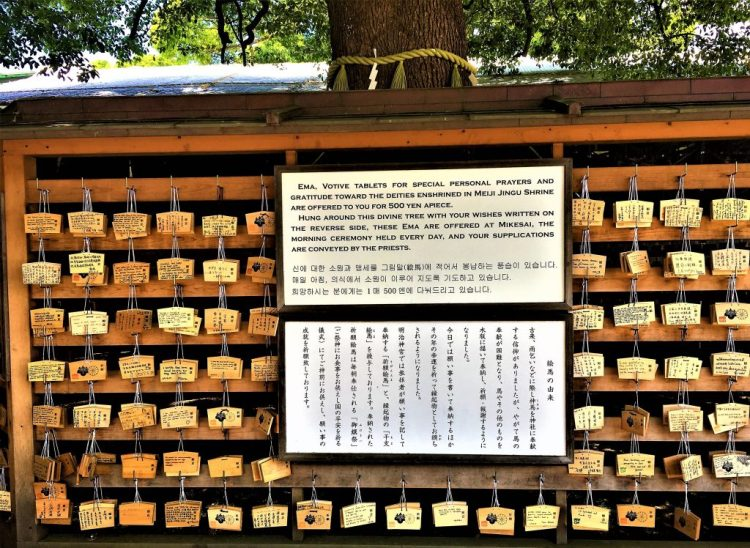 Ema to write your wishes and hang them at the shrine