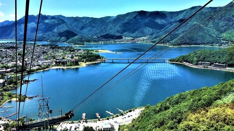 A Day Trip from Tokyo: Lake Kawaguchi - a view from the Mt Kachi Kachi Ropeway